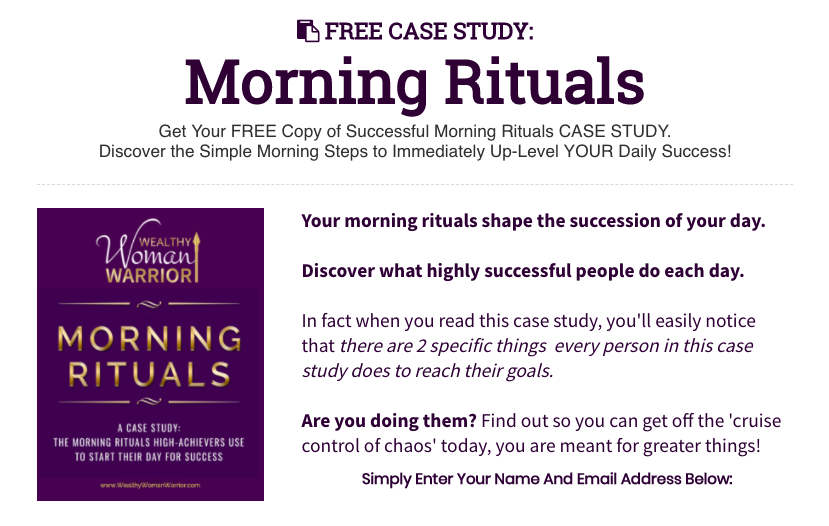 Morning Rituals CaseStudy OPT IN Graphic